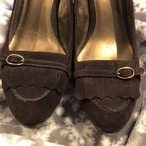 Ann Taylor Loft Brown Suede heels